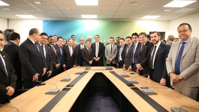 João Roma participa de reunião com o presidente eleito Jair Bolsonaro (PSL) no Palácio do Planalto.