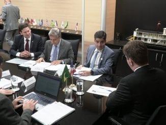 João Roma participa de reunião com o prefeito ACM Neto e o Secretário da Casa Civil de Salvador, Luiz Carrera, com o Ministro do Desenvolvimento Regional, Gustavo Henrique Canuto.