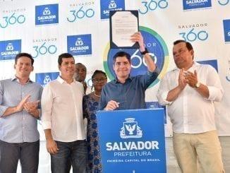 João Roma, Claudio Tinoco, Célia Sacramento, ACM Neto e Geraldo Júnior