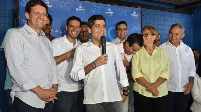 João Roma, ACM Neto, Léo Prates, Bruno Reis e Maria Conceição Pinto