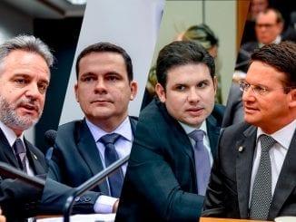 Os deputados republicanos Gilberto Abramo (PRB-MG), Capitão Alberto Neto (PRB-AM), Hugo Motta (PRB-PB) e João Roma (PRB-BA)